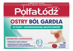 Ostry ból gardła Karton 20past